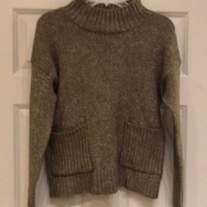 Brown with with small white speckles sweater